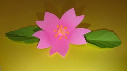 本物が咲いたみたい!!壁面にぴったりの飛び出す桜