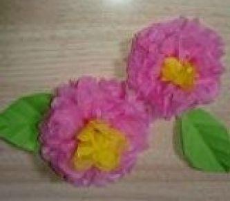 お花紙でアレンジ!その1(修了・卒園式壁面)(春:3月の製作アイデア)