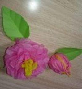 お花紙でアレンジ!その2(修了・卒園式壁面)(春:3月の製作アイデア)